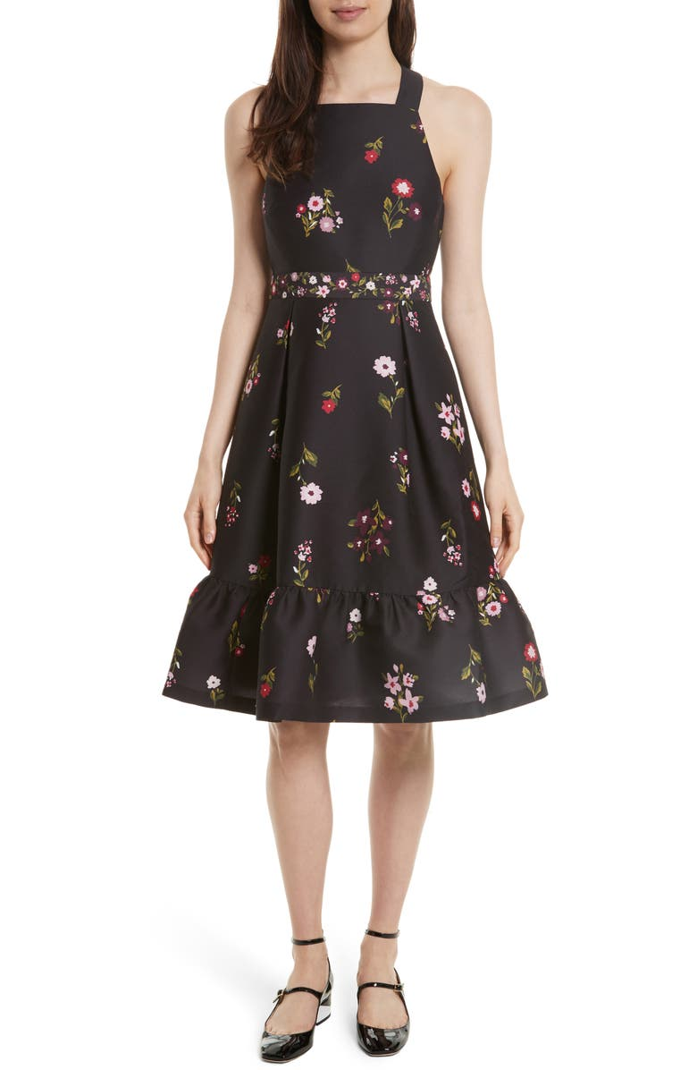 KATE SPADE NEW YORK in bloom fit & flare dress, Main, color, 006