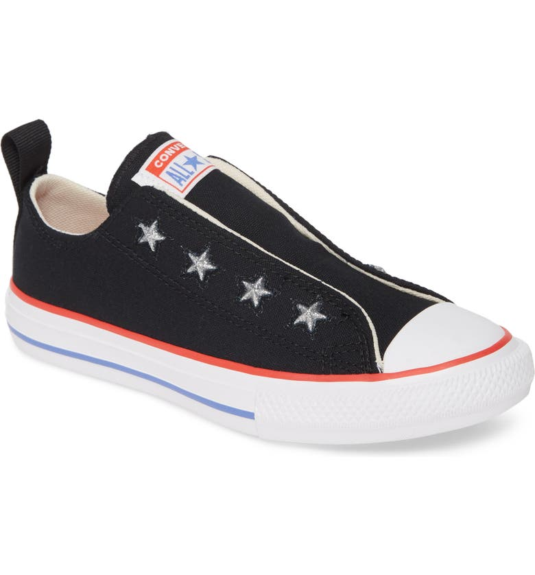CONVERSE Chuck Taylor<sup>®</sup> All Star<sup>®</sup> Glitter Slip-On Sneaker, Main, color, 001
