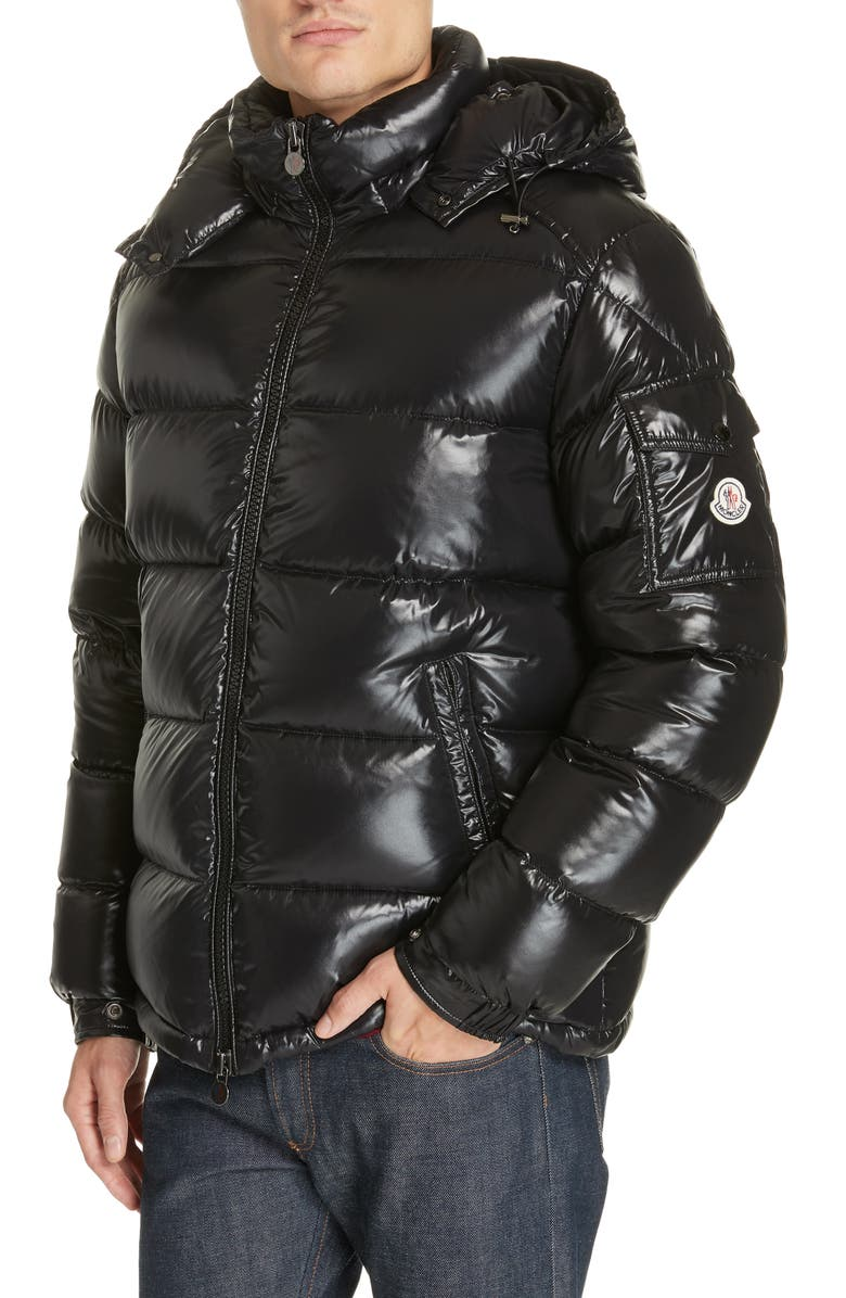 MONCLER Maya Laque Quilted Down Jacket, Main, color, 001
