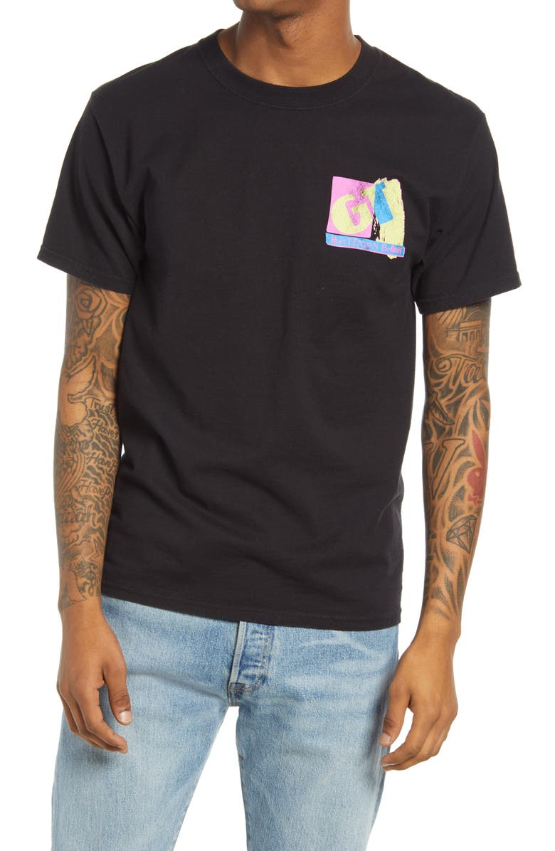 OUR LEGENDS GT Huntington Beach Graphic Tee, Main, color, Black