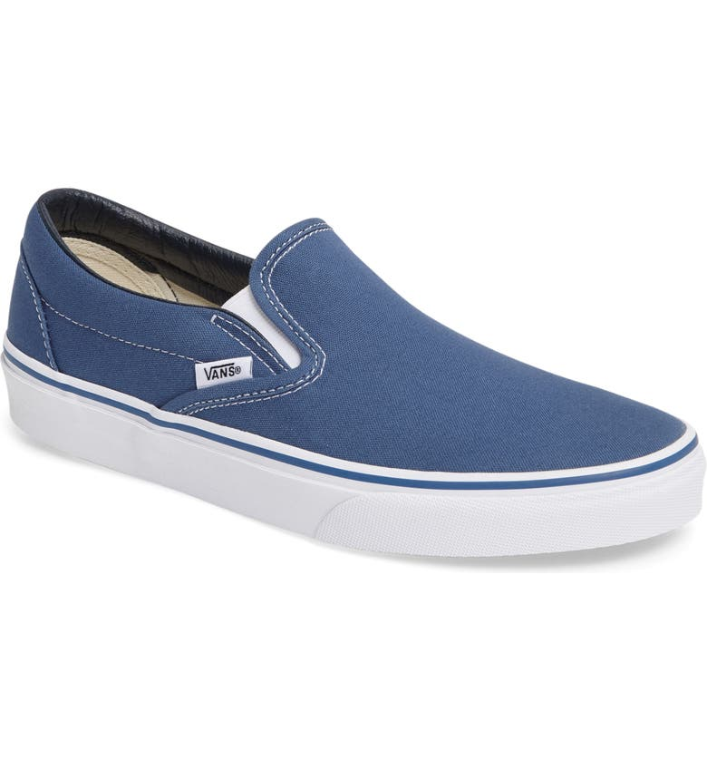 VANS Classic Slip-On, Main, color, NAVY CANVAS