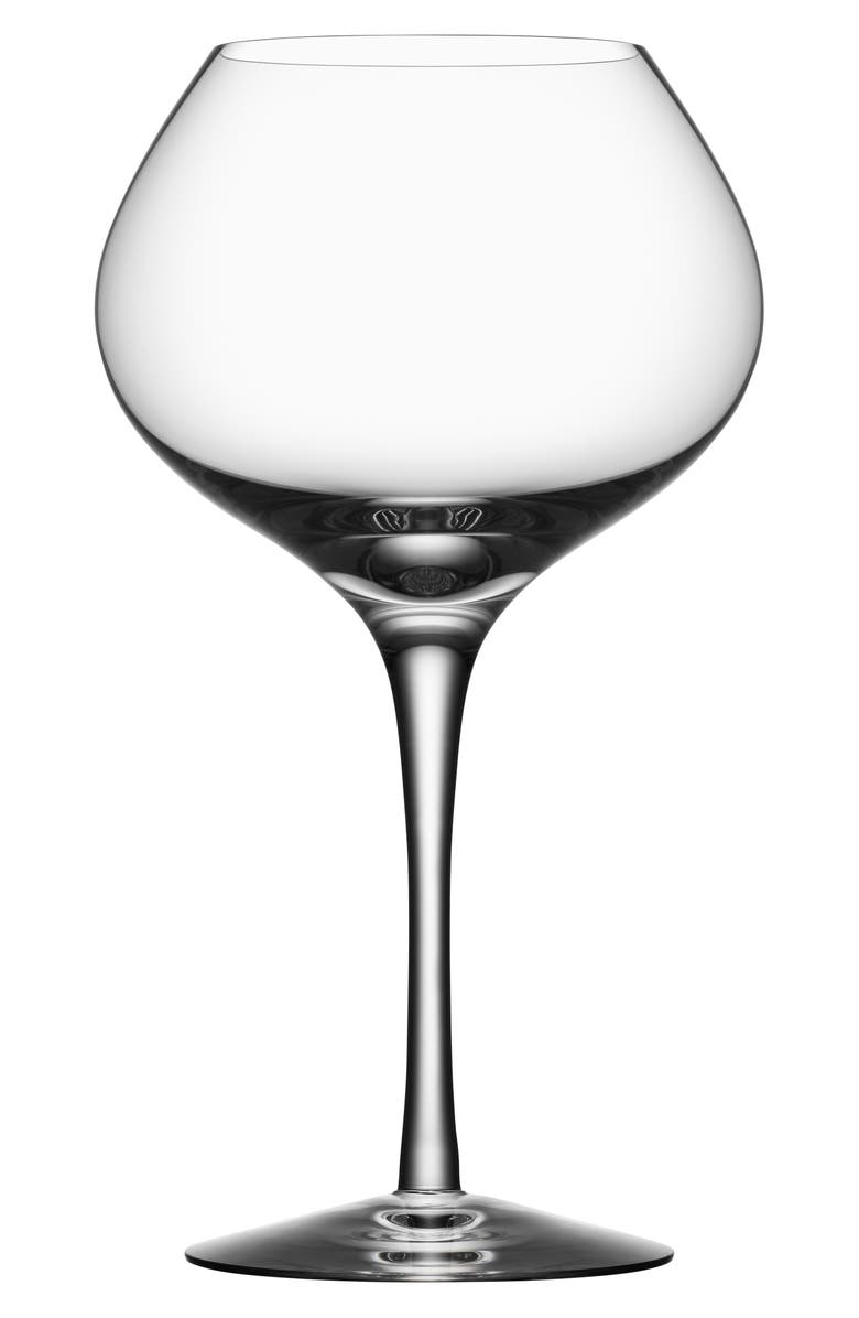 ORREFORS More Mature Set of 4 Lead Crystal Wine Glasses, Main, color, CLEAR