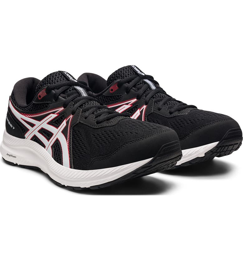 ASICS GEL-Contend 7 Road Running Shoe, Main, color, BLACK/ ELECTRIC RED