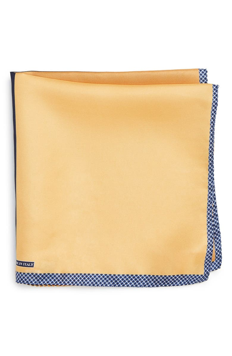 NORDSTROM Panel Silk Pocket Square, Main, color, YELLOW