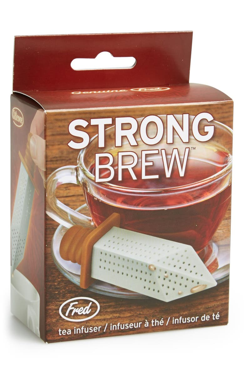 FRED & FRIENDS 'Strong Brew' Sword Tea Infuser, Main, color, Grey