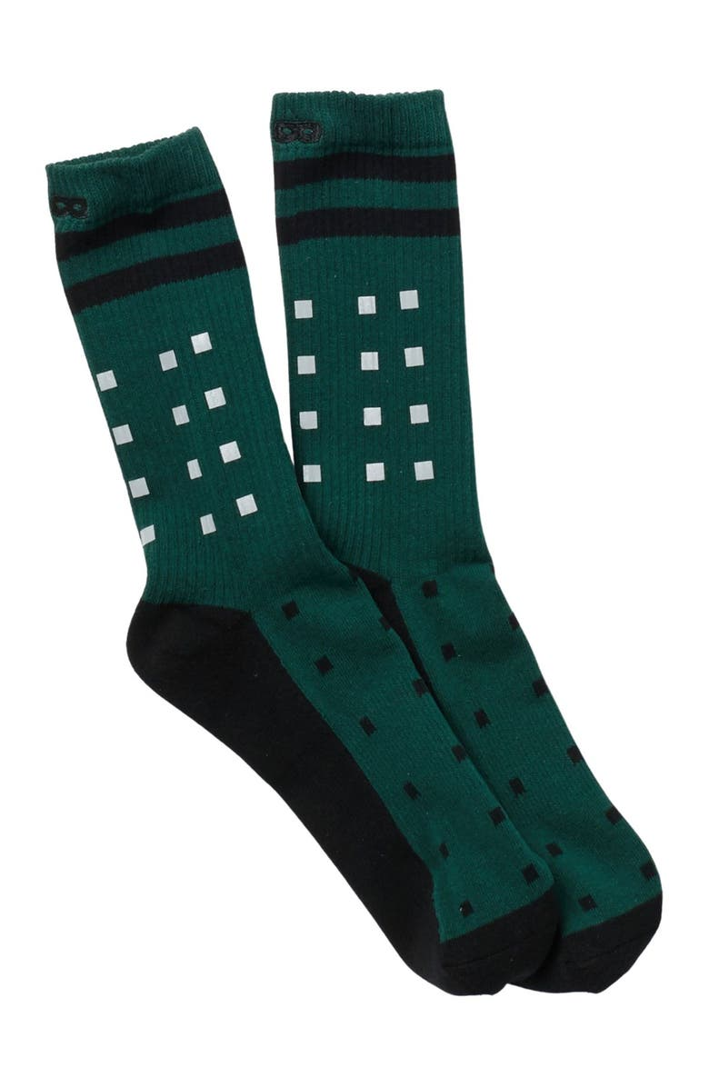 PAIR OF THIEVES Push It Cushion Crew Socks, Main, color, FOREST GRE