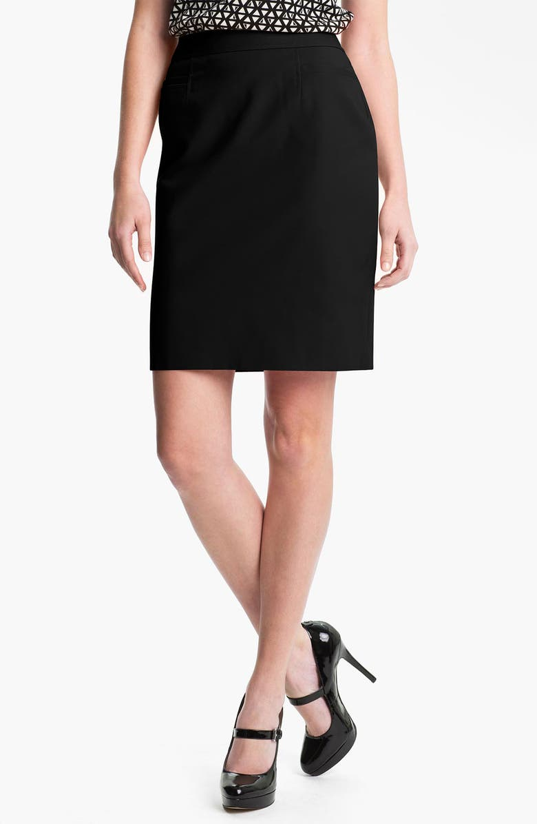 HALOGEN<SUP>®</SUP> Stretch Woven Skirt, Main, color, Black