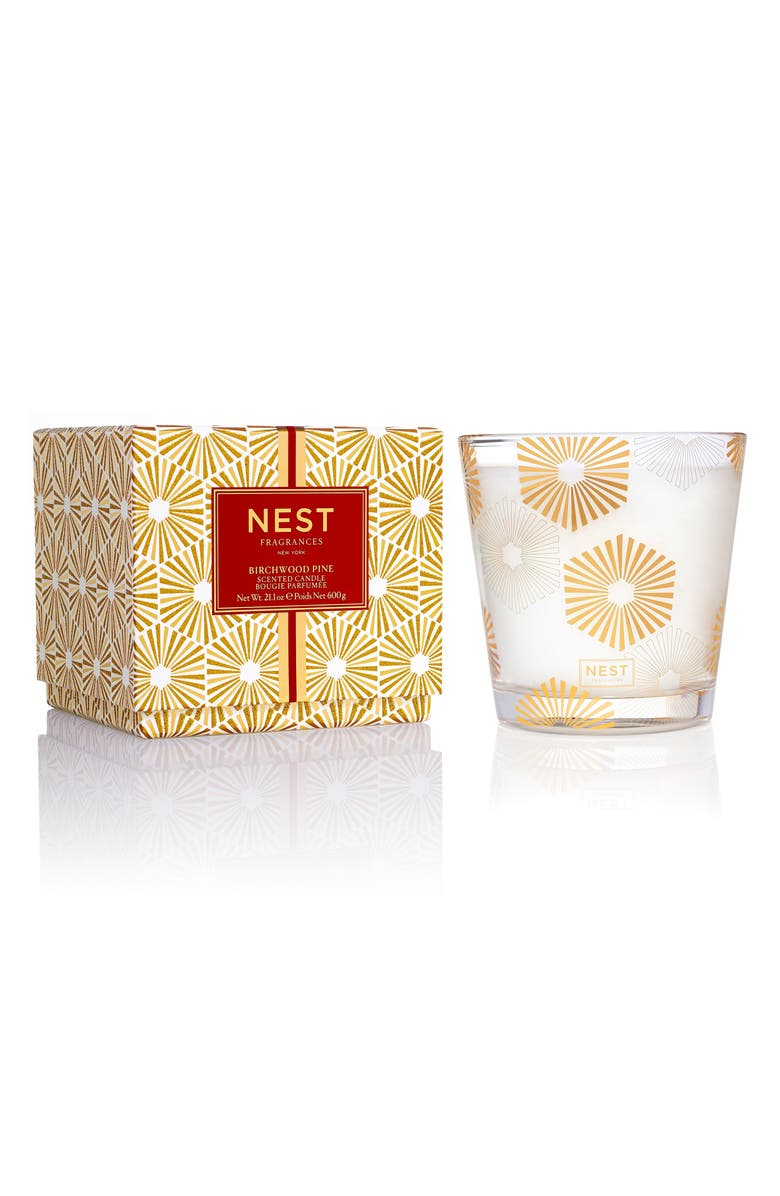 NEST NEW YORK NEST Fragrances Birchwood Pine 3-Wick Candle, Main, color, 000