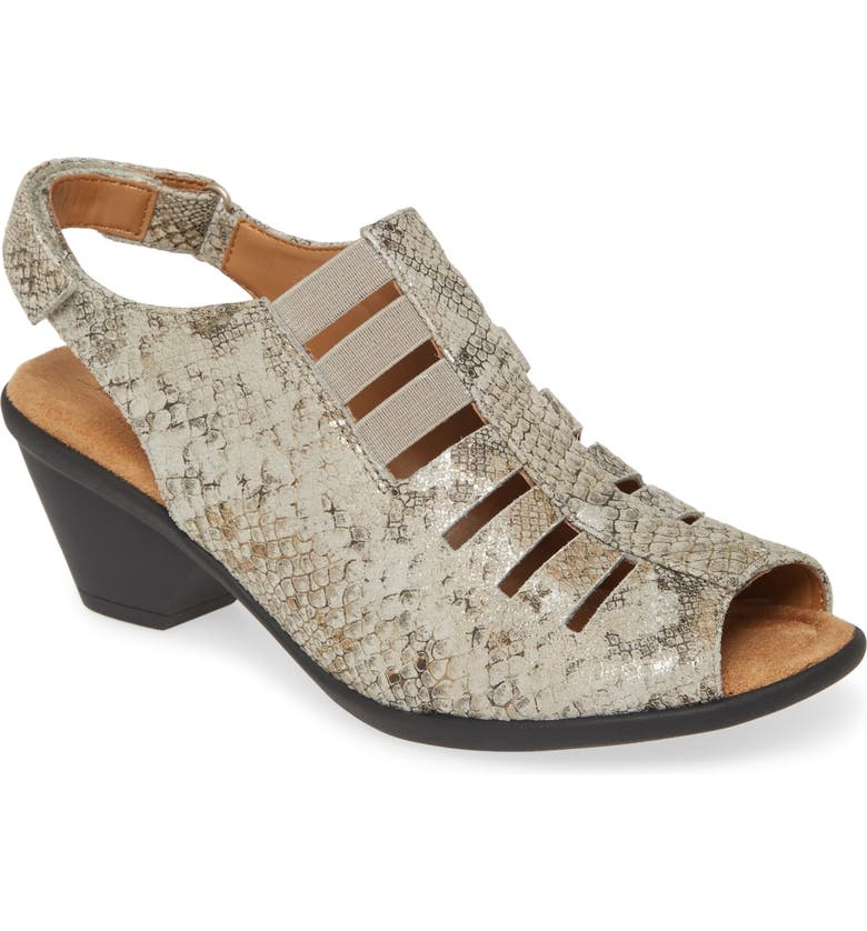 COMFORTIVA Faye Sandal, Main, color, LIGHT GREY LEATHER