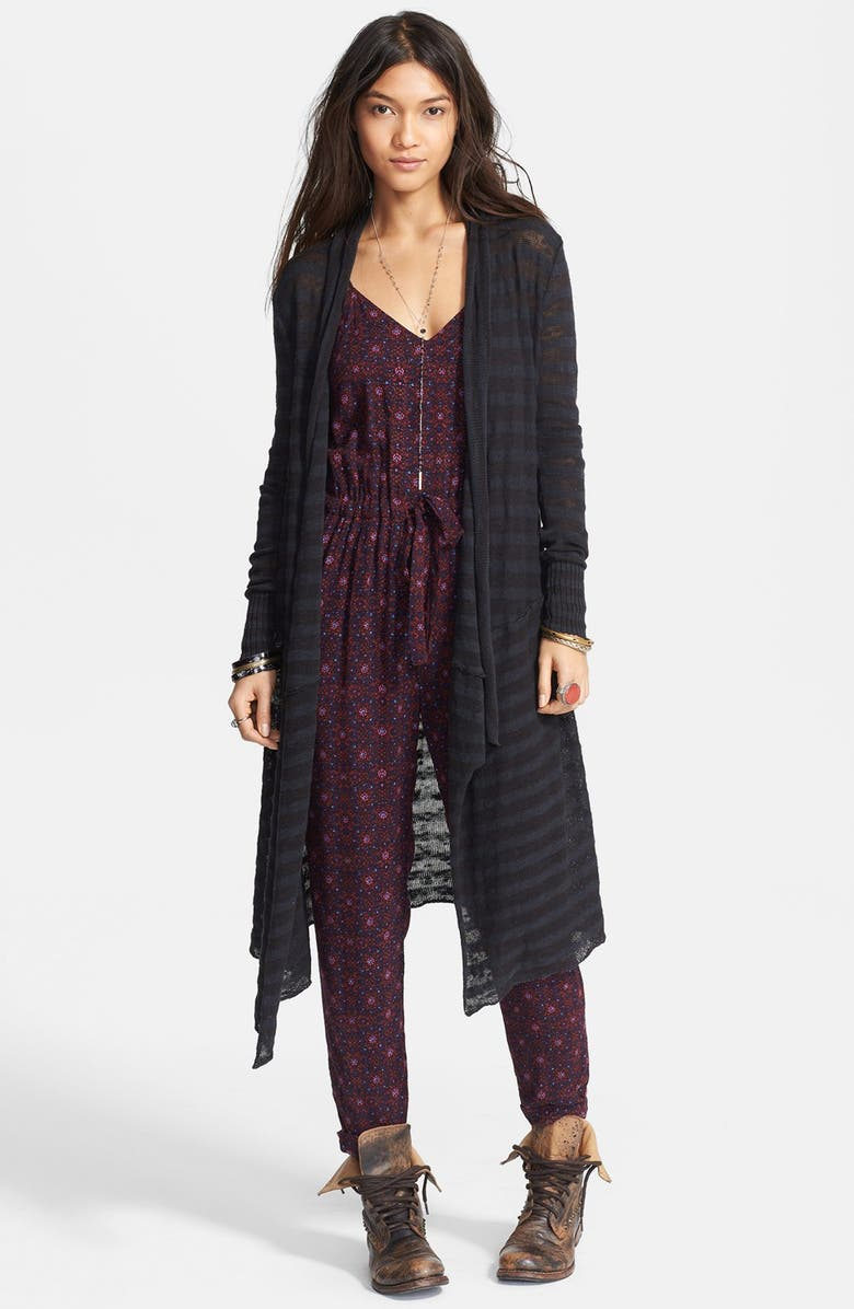 FREE PEOPLE 'Forget Me Not' Stripe Drape Front Cardigan, Main, color, 021