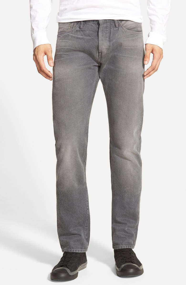 3X1 NYC 'M3' Slim Fit Raw Selvedge Jeans, Main, color, 012
