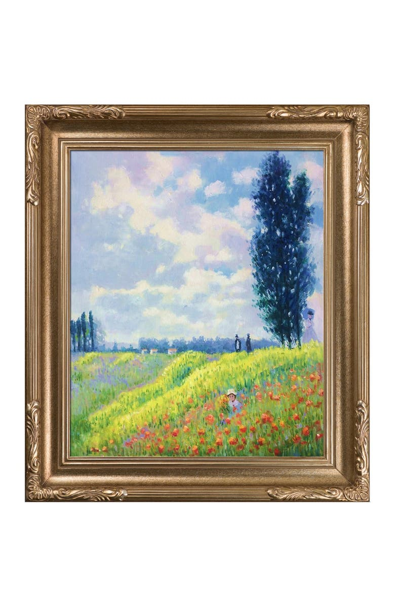 OVERSTOCK ART Walk in the Meadows at Argenteuil - Framed Oil reproduction of an original painting by Claude Monet, Main, color, MULTI