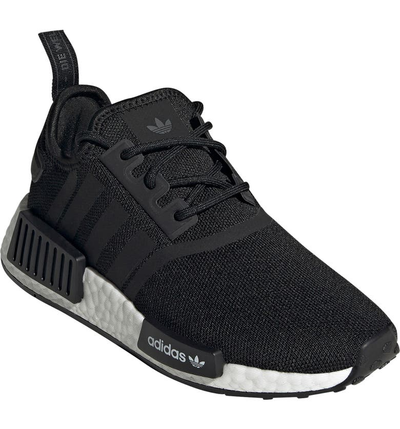 ADIDAS NMD R1 Refined Sneaker, Main, color, BLACK / COBBLED WHITE