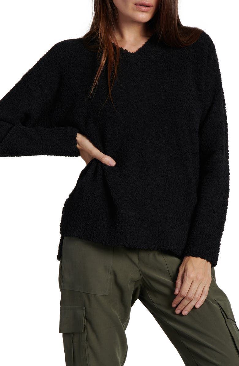 SANCTUARY Teddy Sweater, Main, color, BLACK