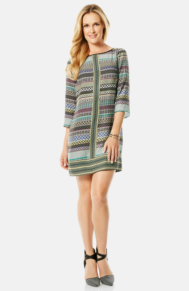 LAUNDRY BY SHELLI SEGAL Print Twill A-Line Dress, Main, color, 002