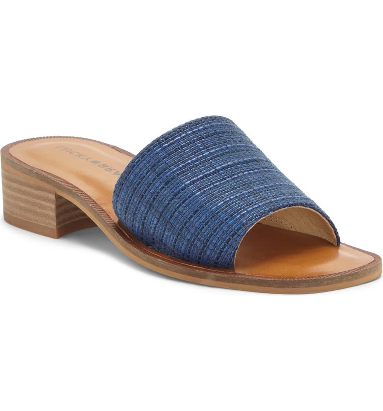 LUCKY BRAND Frijana Slide Sandal, Main, color, NAVY FABRIC