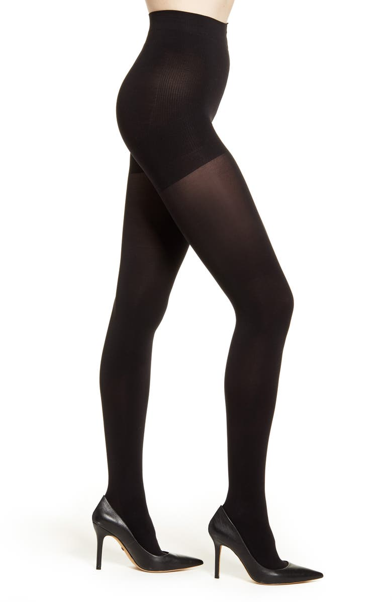 NATORI 2-Pack Firm Fit Opaque Tights, Main, color, Black