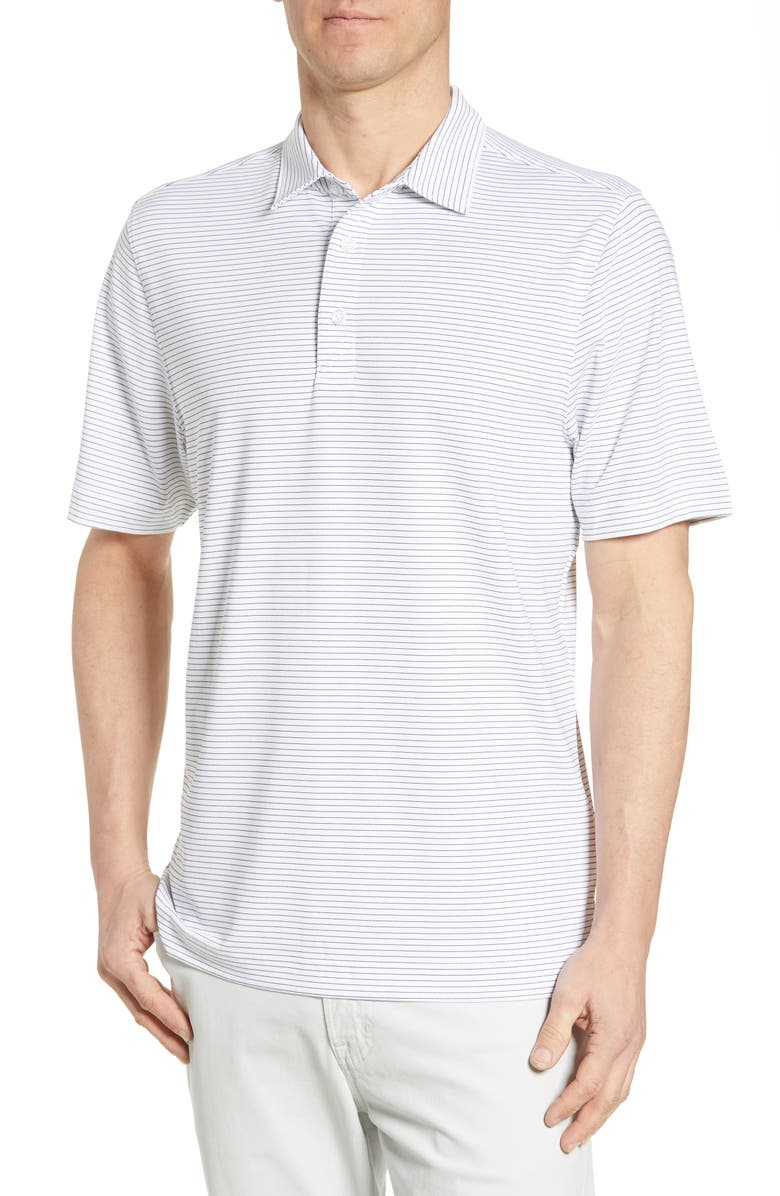 CUTTER & BUCK Forge DryTec Pencil Stripe Performance Polo, Main, color, White