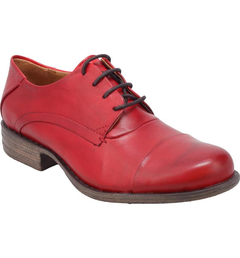 MIZ MOOZ Letty Oxford Flat, Main, color, RED LEATHER