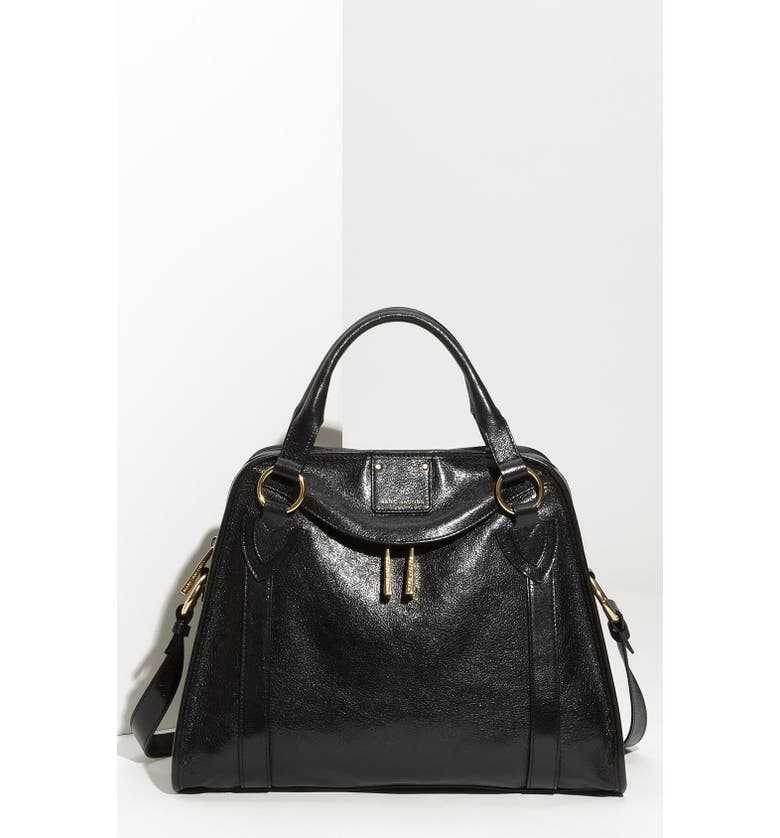 MARC JACOBS 'Classic Wellington' Leather Satchel, Main, color, 001