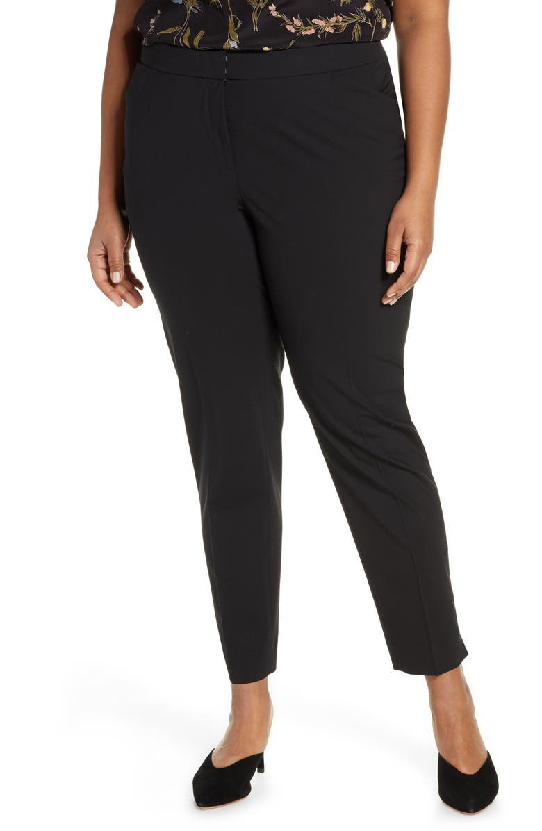 LAFAYETTE 148 NEW YORK Irving Stretch Wool Pants, Main, color, 001