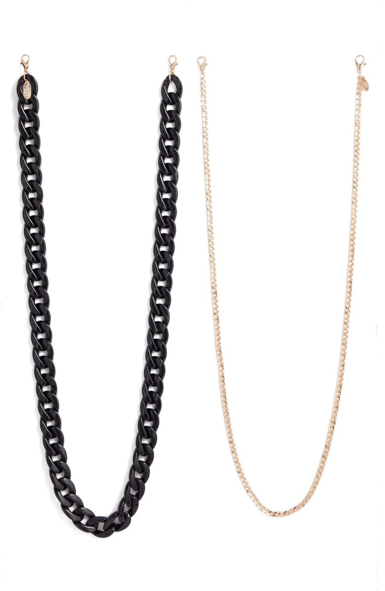 8 OTHER REASONS 2-Pack Adult Face Mask Chains, Main, color, GOLD AND BLACK