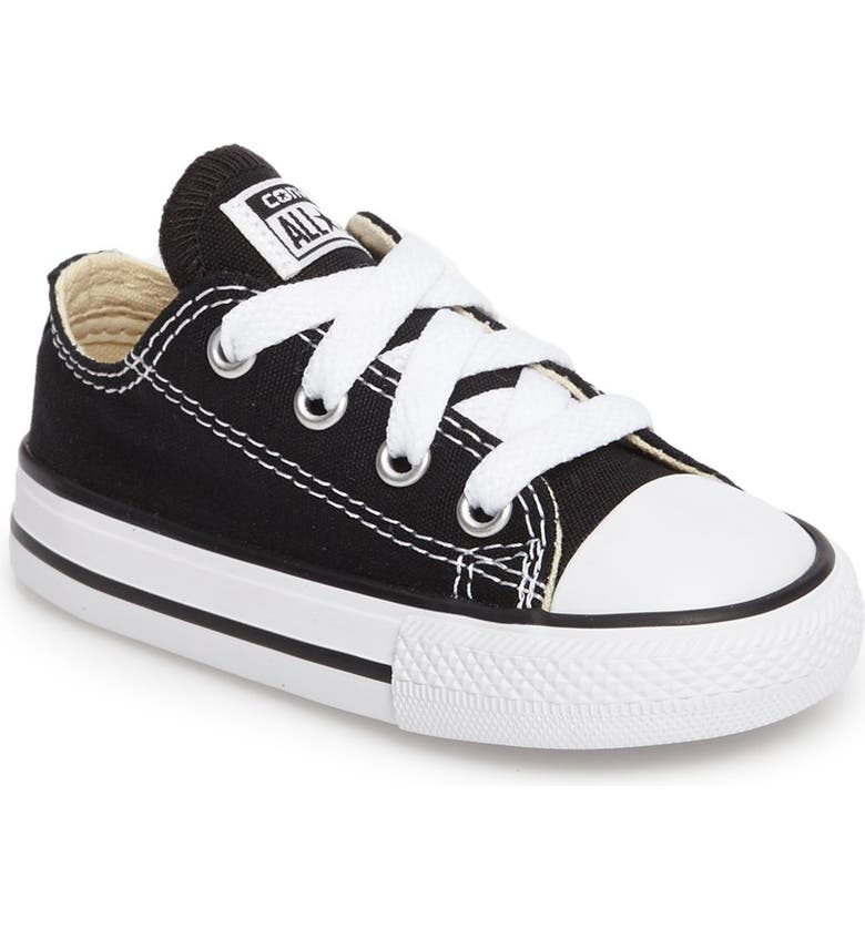 CONVERSE Chuck Taylor<sup>®</sup> Low Top Sneaker, Main, color, BLACK