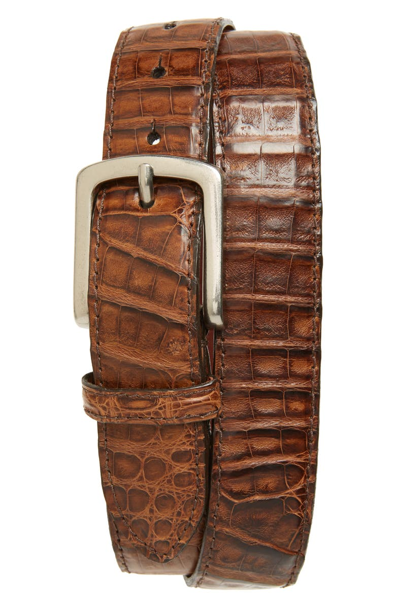 TORINO Caiman Leather Belt, Main, color, 200