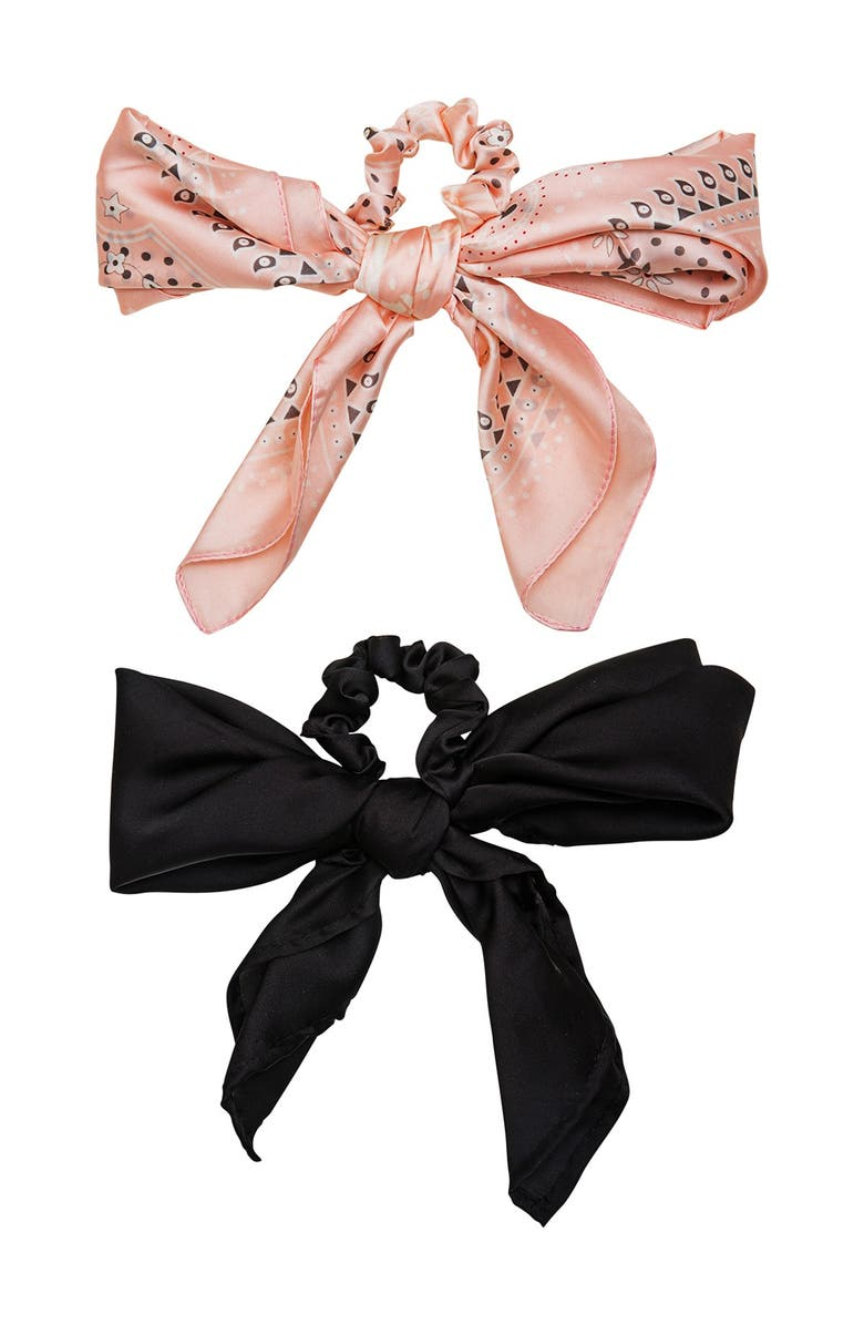 BERRY Convertible Silk Scarf - Pack of 2, Main, color, BLUSH