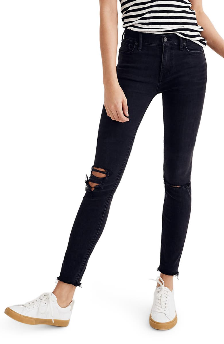 MADEWELL 9-Inch High Waist Skinny Jeans, Main, color, 009