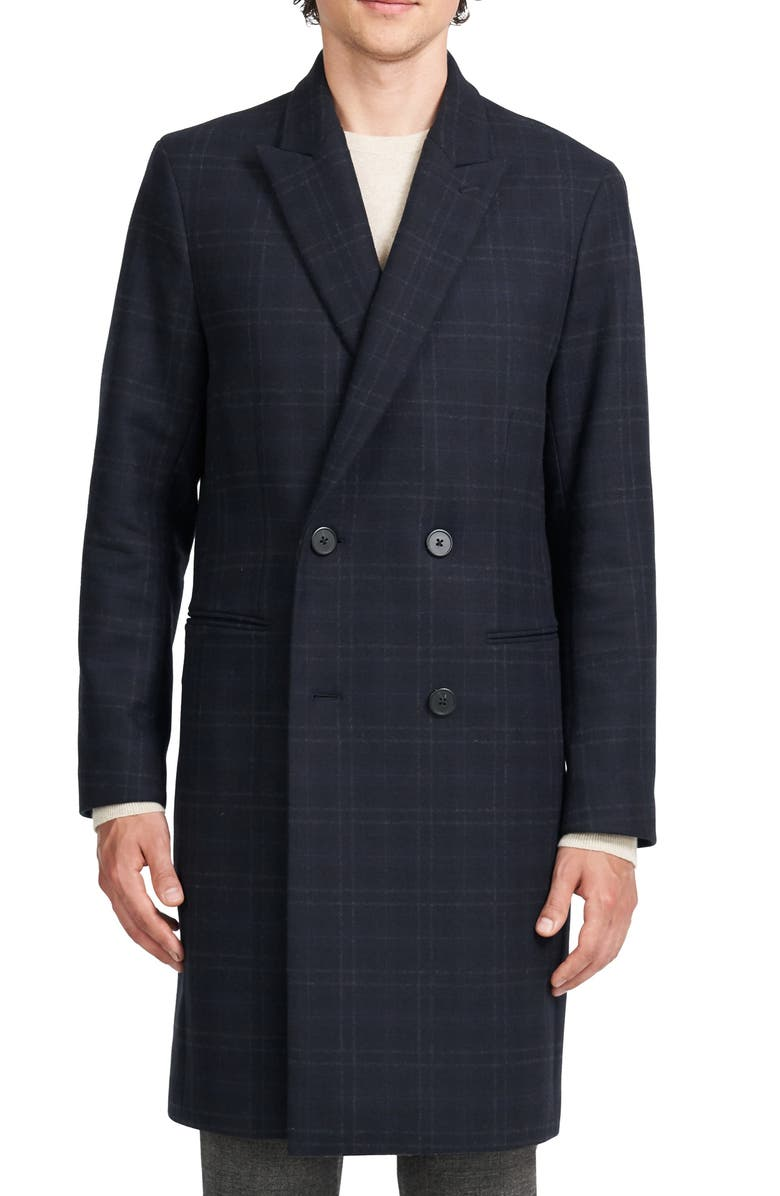 THEORY Pembroke Double Breasted Wool & Cashmere Coat, Main, color, BALTIC MULTI