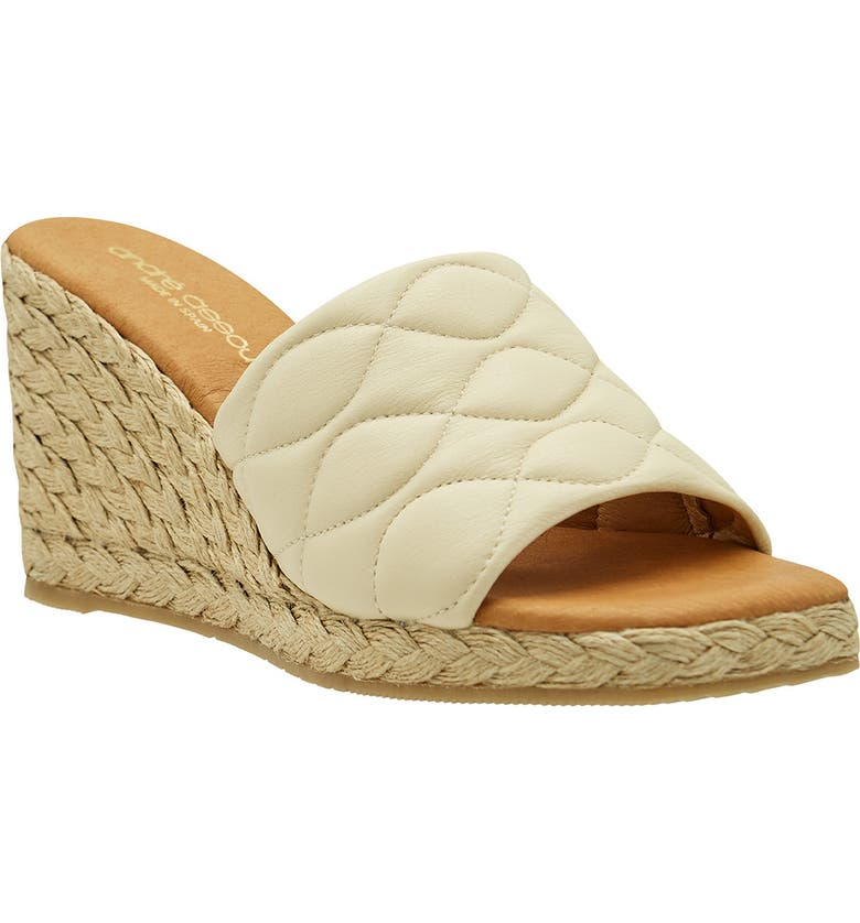 ANDRÉ ASSOUS Analise Espadrille Wedge Sandal, Main, color, BEIGE NAPPA LEATHER