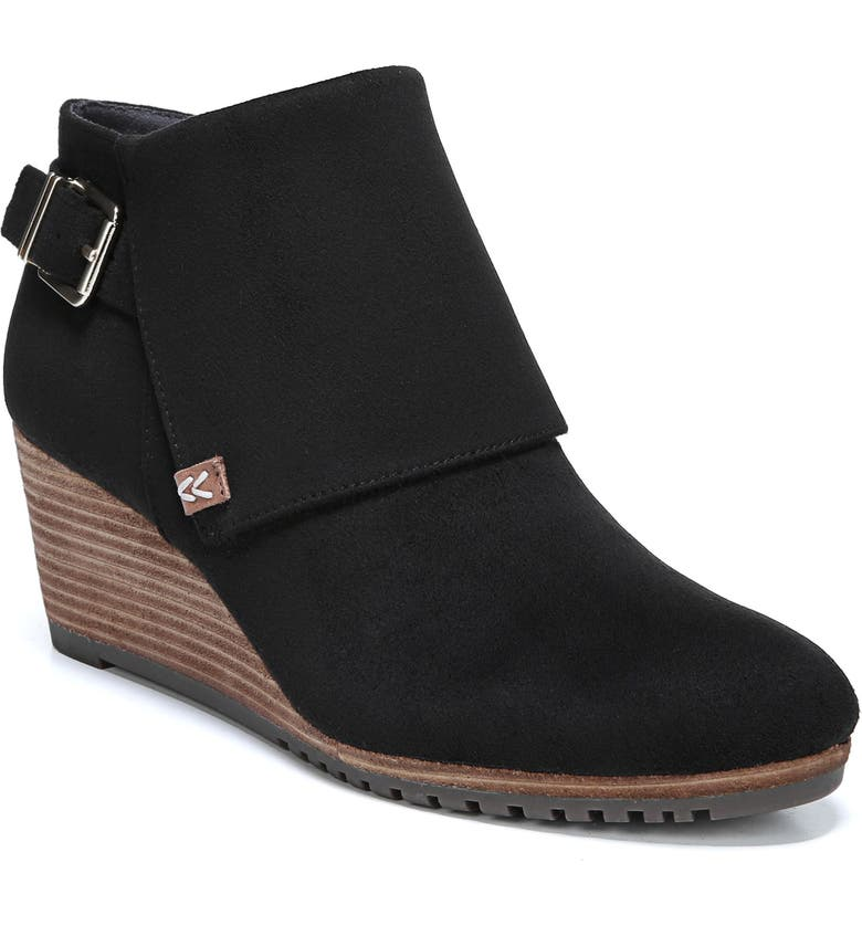 DR. SCHOLL'S Create Wedge Bootie, Main, color, BLACK FABRIC