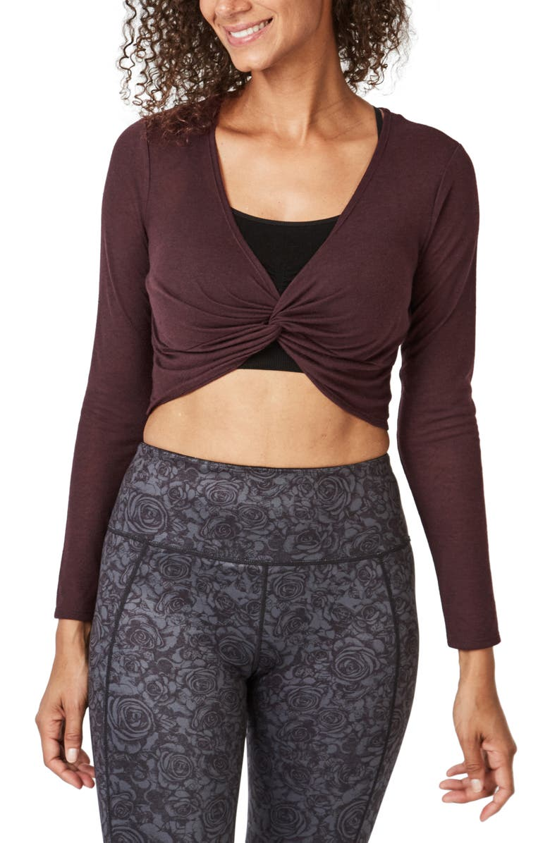 SWEATY BETTY Arc Knot Cropped Top, Main, color, 600