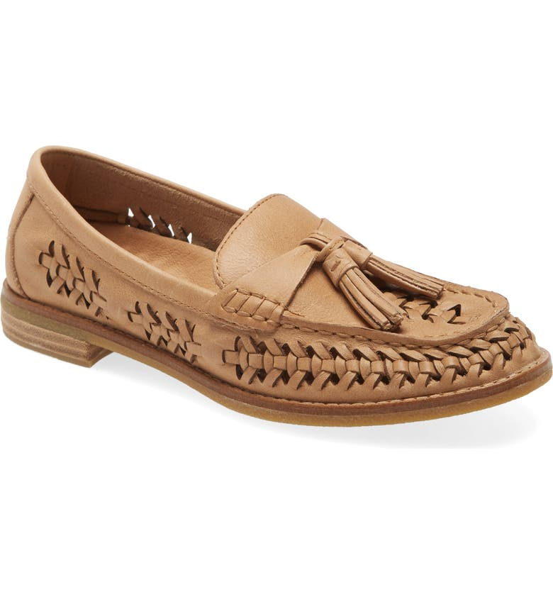 SPERRY Seaport Penny Loafer, Main, color, TAN LEATHER