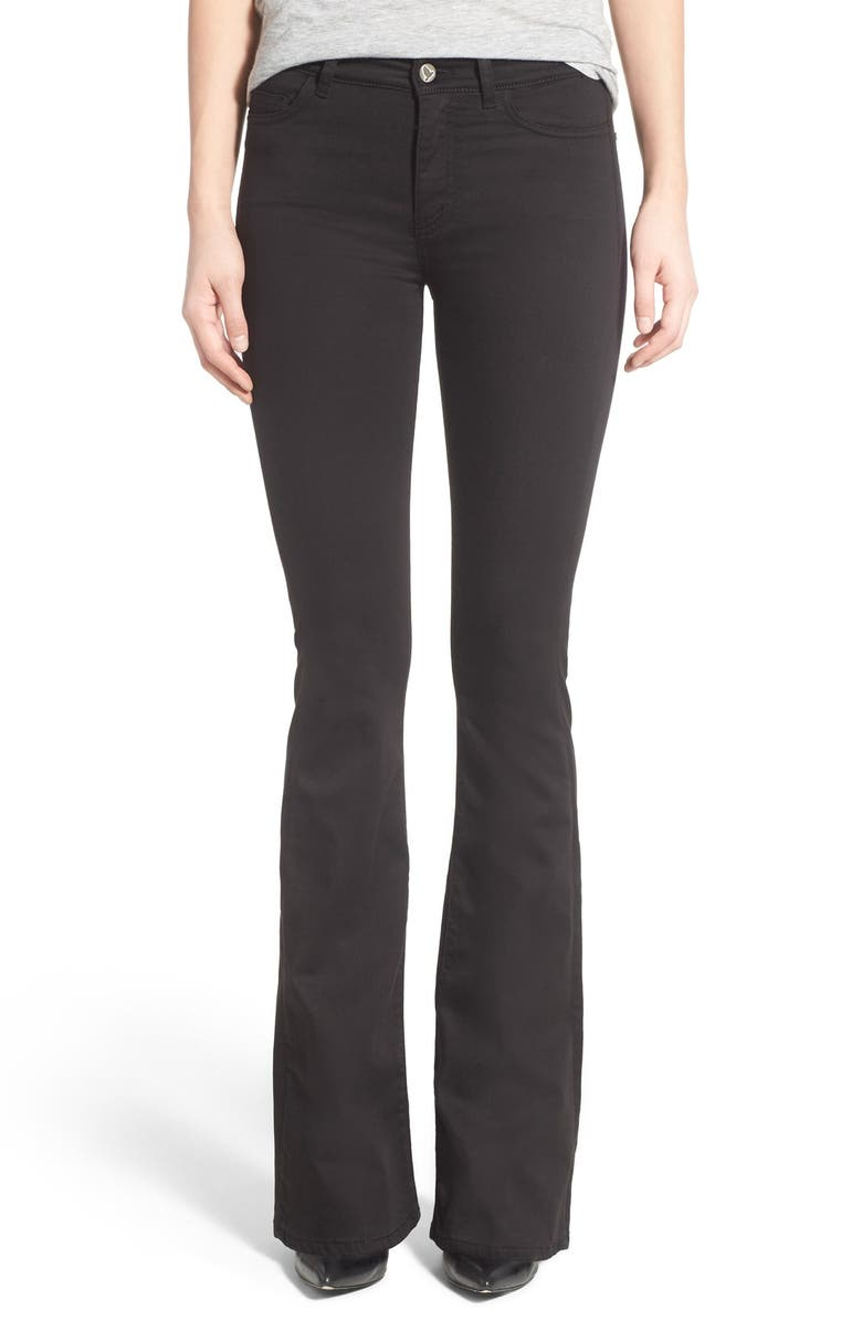 M.I.H. JEANS 'Bodycon Marrakesh' High Rise Flare Jeans, Main, color, POWER BLACK