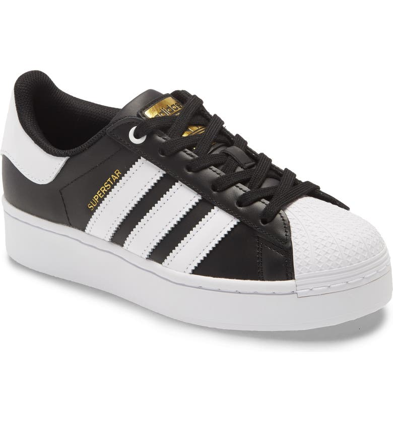 ADIDAS Superstar Bold Sneaker, Main, color, BLACK/ WHITE/ GOLD
