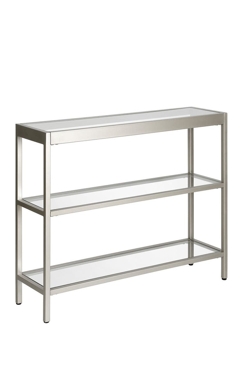 """ADDISON AND LANE Alexis 36"""" Satin Nickel Console Table, Main, color, SATIN NICKEL"""