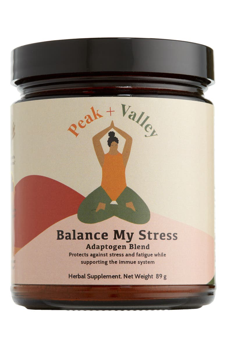 PEAK AND VALLEY Balance My Stress<sup>®</sup> Adaptogen Blend Herbal Supplement, Main, color, NO COLOR