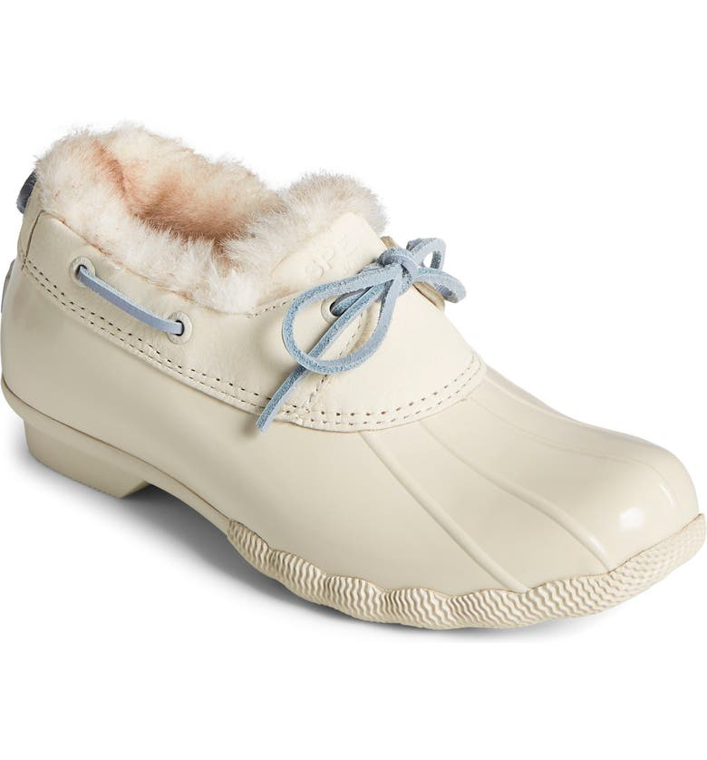 SPERRY Saltwater Faux Fur Lined Boot, Main, color, IVORY