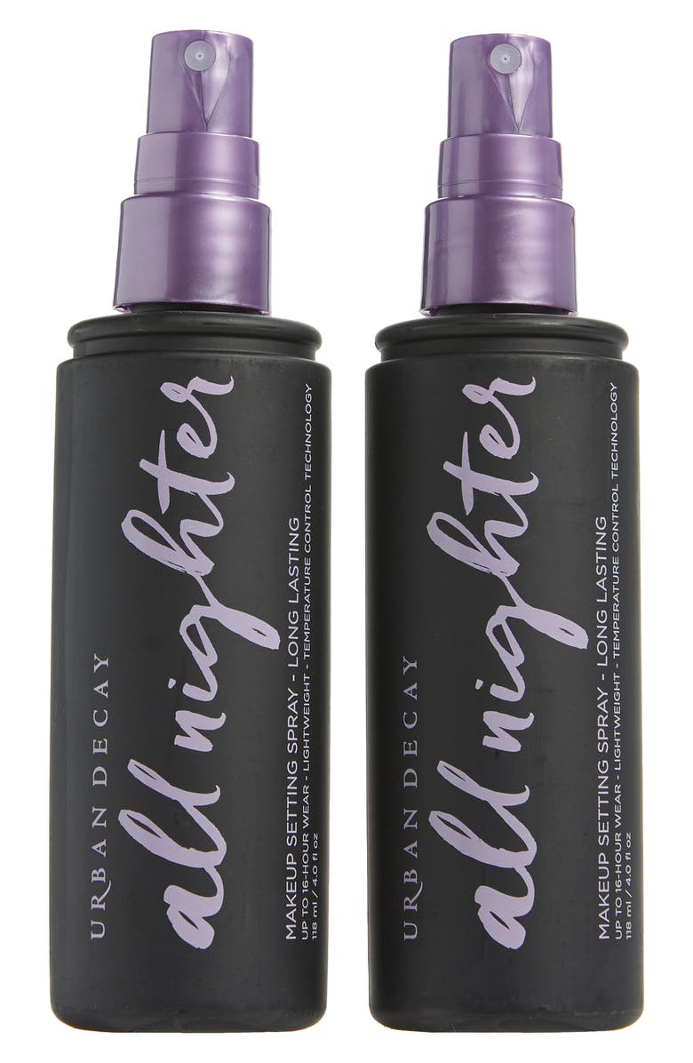 URBAN DECAY Full Size All Nighter Long-Lasting Makeup Setting Spray Duo, Main, color, 000