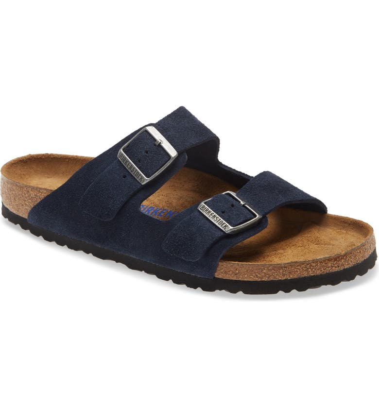 BIRKENSTOCK Arizona Soft Slide Sandal, Main, color, NAVY