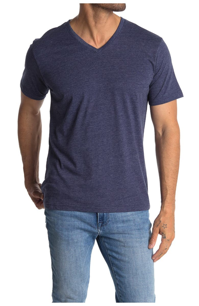 THE NORMAL BRAND V-Neck Jersey T-Shirt, Main, color, NAVY