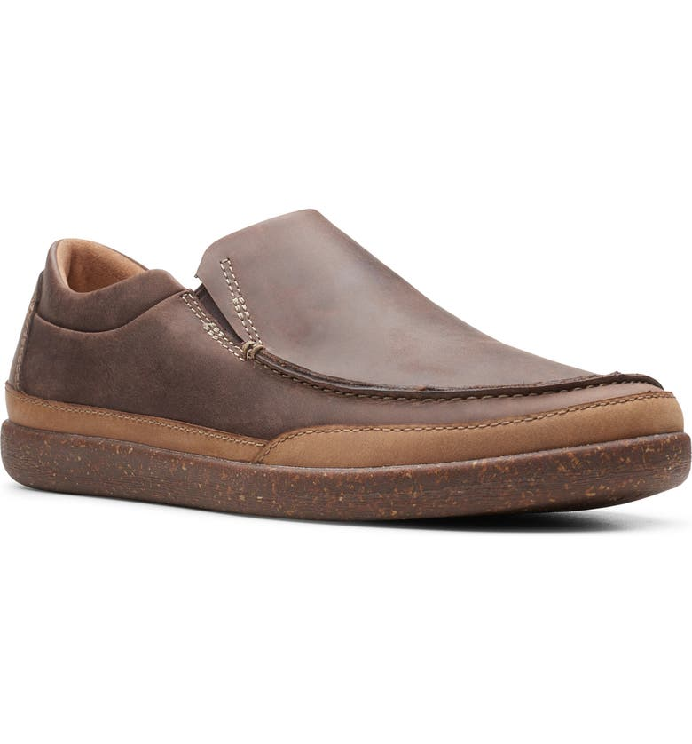CLARKS<SUP>®</SUP> Un.Lisbon Slip-On, Main, color, BROWN OILY LEATHER
