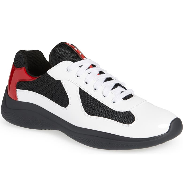 PRADA LINEA ROSSA America's Cup Bike Sneaker, Main, color, WHITE/ RED
