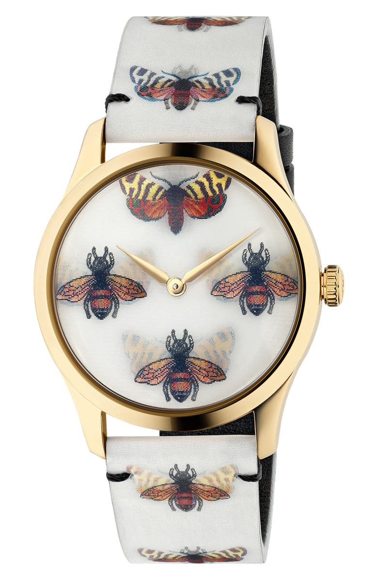 GUCCI G-Timeless Holo Strap Watch, 38mm, Main, color, 000