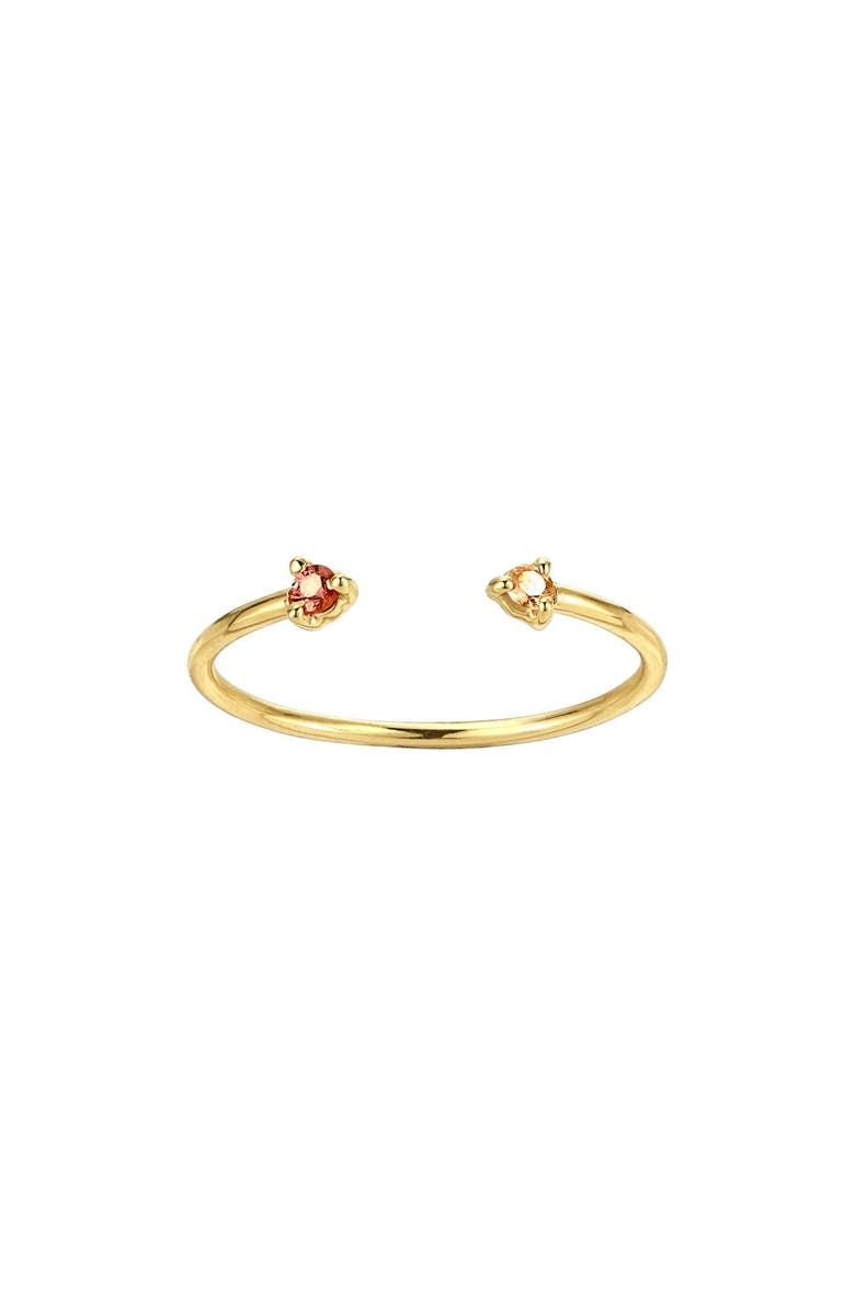 WWAKE Counting Collection Two-Step Tourmaline & Sunstone Ring, Main, color, 711