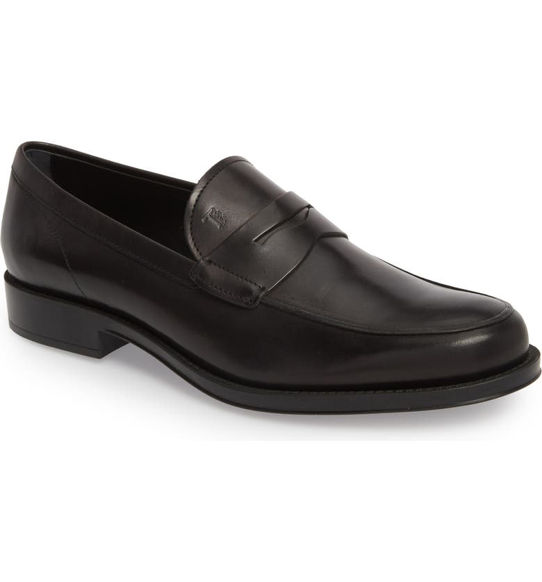 TOD'S Penny Loafer, Main, color, Black