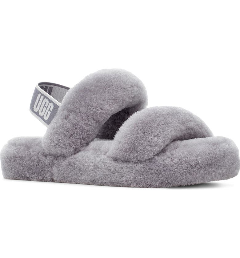UGG<SUP>®</SUP> Oh Yeah Genuine Shearling Slingback Slipper, Main, color, SOFT AMETHYST