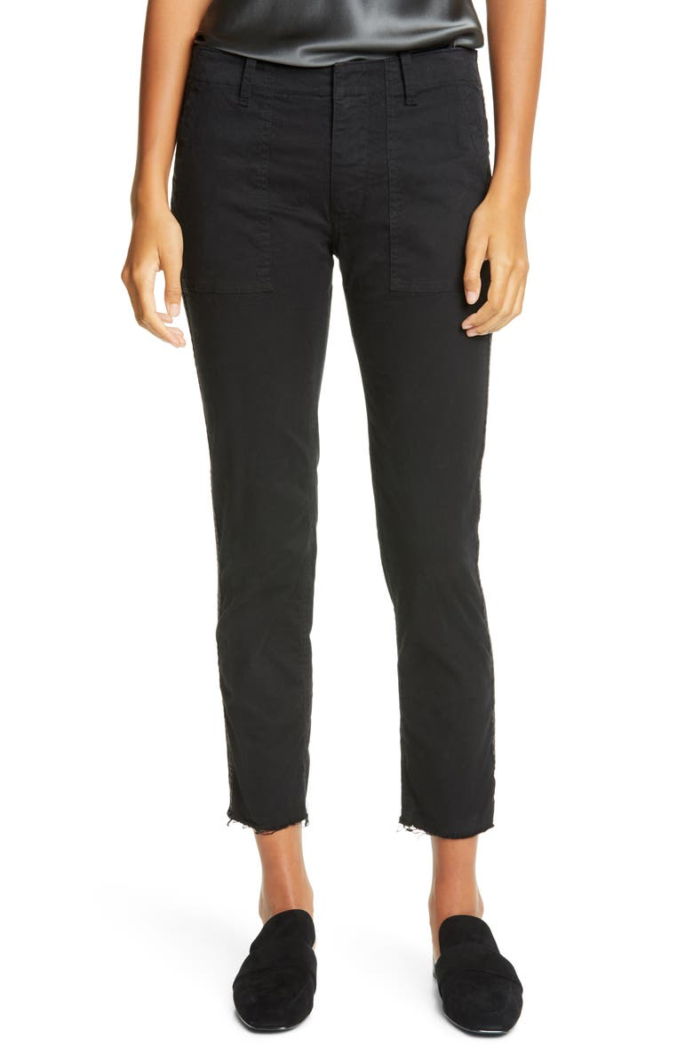 NILI LOTAN Jenna Side Tape Crop Pants, Main, color, 009